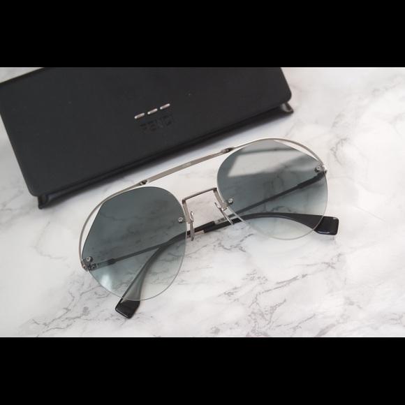 d44da4ad5c42 Fendi Accessories | Brand New Ribbon Crystal Aviator Sunglasses ...